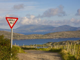 Traffic Sign, Iveragh Peninsula, Ring of Kerry, Co, Kerry, Ireland Photographic Print by Doug Pearson