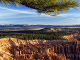 Bryce Canyon National Park, Colourful Rock Pinnacles, Hoodoos at Inspiration Point, Utah Photographic Print by Christian Kober