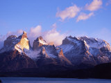 Cuernos, Paine Massif at Dawn Seen across Lago Pehoe Photographic Print by John Warburton-lee