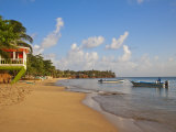 Corn Islands, Little Corn Island, Beach Bar Near the Viillage, Nicaragua Photographie par Jane Sweeney