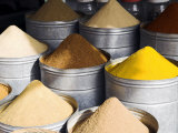 Colourful Spices for Sale in the Souq of Marrakech Photographic Print by Julian Love