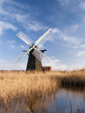 Herringfleet Drainage Mill, Suffolk, UK Photographic Print by Nadia Isakova