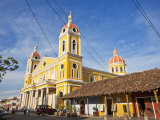 Granada, Park Colon, Park Central, Cathedral De Granada, Nicaragua Photographic Print by Jane Sweeney