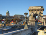 Chain Bridge and Royal Palace on Castle Hill, Budapest, Hungary Photographic Print by Doug Pearson