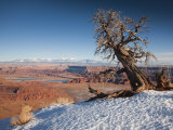 Utah, Moab, Dead Horse Point State Park, View of the Meander Canyon, Winter, USA Photographic Print by Walter Bibikow