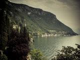 Lombardy, Lakes Region, Lake Como, Varenna, Villa Monastero, Gardens and Lakefront, Italy Photographic Print by Walter Bibikow