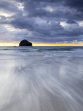 Gull Rock at Sunset, Trebarwith Strand, Cornwall, UK Photographic Print by Nadia Isakova