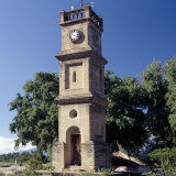 Queen Victoria Clock Tower at Mangochi, Important 19th Century Slave Market Straddling Shire River Photographie par Nigel Pavitt