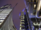 England, London, the Lloyd's Building in the London City Centre, UK Photographic Print by David Bank