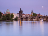 Old Town and Charles Bridge, Prague, Czech Republic Photographie par Doug Pearson