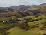 View from Castell Dinas Bran Towards Llantysilio Mountain and Maesyrychen Mountain, Wales Photographic Print by John Warburton-lee