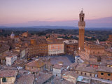 Palazzo Publico and Piazza Del Campo, Siena, Tuscany, Italy Photographic Print by Doug Pearson