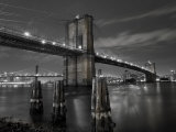 New York City, Manhattan, the Brooklyn and Manhattan Bridges Spanning the East River, USA Fotografie-Druck von Gavin Hellier