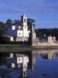 Niembro Church Sits on the Shore of a Quiet Inlet on the Asturian Coast Photographic Print by John Warburton-lee