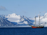 Noordelicht at Anchor Off the West Coast of Spitsbergen Photographic Print by William Gray