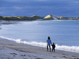 Long Sandy Beach Beside the Ackergill Links at Sinclair's Bay Photographic Print by John Warburton-lee