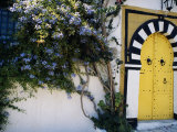 Tunis, Sidi Bou Said, A Decorative Doorway of a Private House, Tunisia Photographic Print by Amar Grover