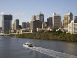 Queensland, Brisbane, View Along Brisbane River Toward City's Central Business District, Australia Photographic Print by Andrew Watson