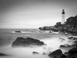 Maine, Portland, Portland Head Lighthouse, USA Lmina fotogrfica por Alan Copson