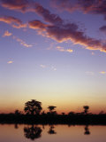 Last Rays of the Setting Sun over the Okavango River at Rundu Photographic Print by Nigel Pavitt