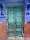Typical Blue Architecture, Jodhpur, Rajasthan, India Photographic Print by Doug Pearson