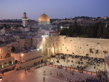 Wailing Wall, Western Wall and Dome of the Rock Mosque, Jerusalem, Israel Fotografie-Druck von Michele Falzone
