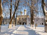 Entrance to the Bogorodichno-Uspenskij Monastery, Tikhvin, Leningrad Region, Russia Photographic Print by Nadia Isakova