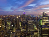 New York City, Manhattan, View Towards Downtown; Empire State Building from Rockerfeller Centre, US Photographic Print by Gavin Hellier