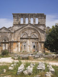 Ruins of the Basilica of St Simeon Stylites the Elder in the Hills Near Aleppo Photographic Print by Julian Love