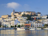 Eivissa or Ibiza Town and Harbour, Ibiza, Balearic Islands, Spain Photographic Print by Peter Adams