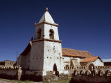 Pretty Andean Church at the Village of Isluga, Chile Photographic Print by John Warburton-lee