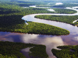 Amazon, Amazon River, Bends in the Nanay River, a Tributary of the Amazon River, Peru Photographic Print by Paul Harris