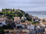 Lisbon, the Castelo Sao Jorge in Lisbon with the Rio Tejo in the Background, Portugal Photographic Print by Camilla Watson