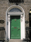 Green Door, Merrion Square, Dublin, Ireland Photographic Print by Jon Arnold