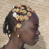 Timbuktu, A Songhay Girl with an Elaborately Decorated Hairstyle in Timbuktu, Mali Photographic Print by Nigel Pavitt