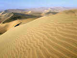 Sand Dunes Stretch into the Distance, in the Coastal Desert Bordering Ica, in Southern Peru Photographic Print by Andrew Watson