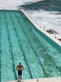 New South Wales, Sydney, Bondi Beach, Bondi Icebergs Swimming Club Pool, Australia Photographie par Walter Bibikow
