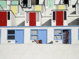 Beach Huts on Tolcarne Beach, Newquay, Cornwall, England Photographic Print by Julian Love