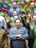 Hong Kong, Chinese Chariman Mao Souvenirs for Sale in Hong Kong Street Market, China Photographic Print by Mark Hannaford
