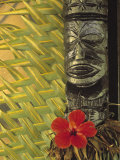 Traditional Wood Carving, Rarotonga, Cook Islands Photographic Print by Neil Farrin