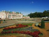 Flower Garden in Kadriorg Palace Built Between 1718-36, Residence of the President of Tallinn Photographic Print by Christian Kober