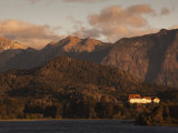 Rio Negro Province, Lake District, Llao Llao, Hotel Llao Llao and Lake Nahuel Huapi, Argentina Photographic Print by Walter Bibikow