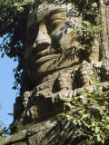 Detail of Carved Faces at Baray Temple, Angkor Wat, Cambodia Photographic Print by Mark Hannaford