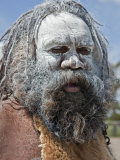 Australia New South Wales, an Aboriginal Man at Katoomba Photographic Print by Nigel Pavitt