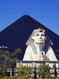 Nevada, Las Vegas, Luxor Casino Pyramid and Sphinx, USA Photographic Print by Christian Kober