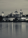 Lombardy, Mantua, Town View and Palazzo Ducale from Lago Inferiore, Italy Photographic Print by Walter Bibikow