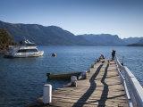Road of Seven Lakes, Villa La Angostura, Lake Nahuel Huapi, Pier, Brava Bay, Argentina Photographic Print by Walter Bibikow