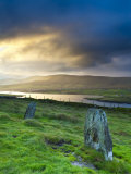 Standing Stones Near Portmagee, Valentia Island, Co Kerry, Ireland Photographic Print by Doug Pearson