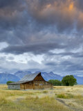 Old Barn and Teton Mountain Range, Jackson Hole, Wyoming, USA Photographic Print by Michele Falzone