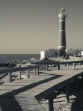 Faro Jose Ignacio, Atlantic Ocean Resort Town, Village Lighthouse, Uruguay Photographic Print by Walter Bibikow